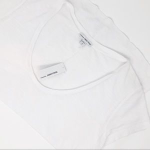 James Perse Deep V-Neck Scoop T-Shirt